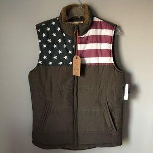 NWT Men's Weatherproof American Flag Vest